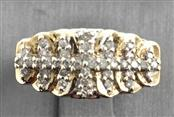 10K Solid Yellow Gold Diamond Ladies Ring/ Size 6/ 3.3 Grams/ 0.40 CTW